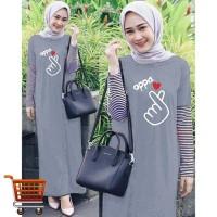 Dress Oppa Cese Big Size Gamis Maxi Dress Muslim Jumbo