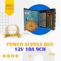 POWER SUPPLY CCTV BOX ADAPTOR 12V 10A 9Ch / PSU box panel 9 channel