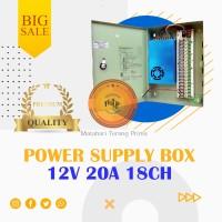 POWER SUPPLY CCTV BOX ADAPTOR 12V 20A 18Ch / PSU box panel 18 channel