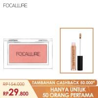 FOCALLURE Bundle Blush On dan Lipstik Glitter