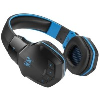 Headset Headphone Gaming Wireless Kotion Each 2 in 1 Deep Bass Blue