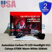 Autovision Carbon P2 LED H11 Putih Hangat Lampu Innova Reborn CRV BRV