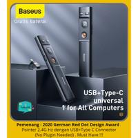 BASEUS Laser Pointer Wireless Presenter 2.4G Hz Pen Cursor Presentasi