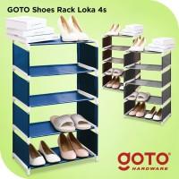 Goto Loka 4S Rak Sepatu 4 Susun Shoe Rack Portable Serbaguna