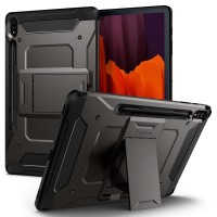 Case Tab S7 Plus SPIGEN Tough Armor Pro with Stand & Pencil - Gunmetal
