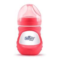 Sweety Baby Bottle Wide Neck Glass Bottle Botol Susu Bayi Merah(150ml)