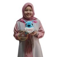 (UKIR NAMA) Boneka Stitch M(T20cm)