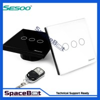 Remote Controll 3 Jalur Wireless Wall Light Touch Switch to Smart Home