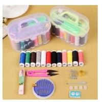 Sewing box 1 set alat Jahit benang warna lengkap Paket Benang