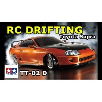 Tamiya TT02D Scale 1/10 Toyota Supra RC Car Drift Drifting Kit w/ ESC