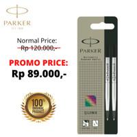 isi Parker Pen / Refill Rollerball / Signpen Black M Double Blister - Hitam