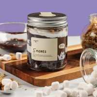 Mookie S'mores Cake In a Jar