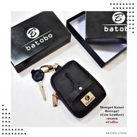Dompet Kulit STNK Kunci Mobil BATOBO Gantungan Kunci Unik Model Sendal - Coffee