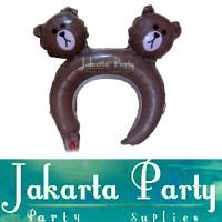Balon Bando Karakter Line Brown Bear / Balon Bando Anak