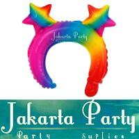Balon Bando Karakter Star Rainbow / Balon Foil Bando Anak