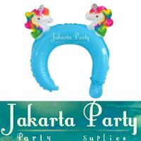 Balon Bando Karakter Unicorn / Animal Headband / Balon Bando Anak