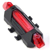 Lampu belakang sepeda / Lampu Sepeda 5 LED Rechargeable micro usb