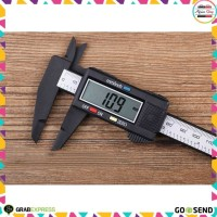 Jangka Sorong Digital Vernier Caliper with LCD Screen - Black