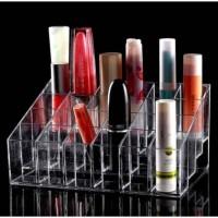 Rak Lipstik Kutek Multifungsi Akrilik Grid18 Murah Tempat rak kosmetiK