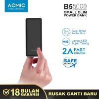 ACMIC B5 5000mAh Slim PowerBank (2A Fast Charge + Lampu Senter LED)