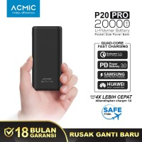 ACMIC P20PRO 20000mAh PowerBank Quick Charge 3.0 + PD Power Delivery