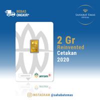 2 GRAM LOGAM MULIA/LM/EMAS ANTAM REINVENTED 2020
