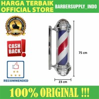 Barberpole Lampu Barbershop Barber Pole Premium 75CM
