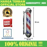 Barberpole Lampu Barbershop Barber Pole Premium 95CM