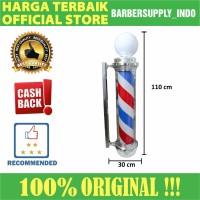 Barberpole Lampu Barbershop Barber Pole Premium 110CM