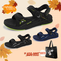 Sepatu Sandal Pria Gold Pigeon UltraLite Freed G0785M - Hitam, 39