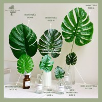 ARTIFICIAL FLOWER MONSTERA COLLECTION Daun imitasi hijau dekorasi