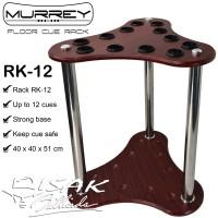 Murrey Floor Cue Rack RK-12 Rak Stick Kayu Sudut Corner Billiard Cues