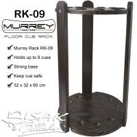 Murrey Floor Cue Rack RK-09 Rak Stick Kayu Sudut Corner Billiard Cues