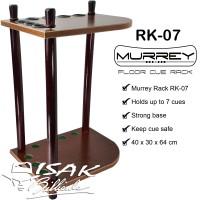 Murrey Floor Cue Rack RK-07 Rak Stick Kayu Sudut Corner Billiard Cues