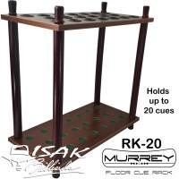 Murrey Floor Cue Rack RK-20 Rak Stick Kayu Sudut Corner Billiard Cues