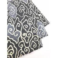 DOBY ABU PASTEL motif 2 dobi dobby bahan kain batik atbm mega mendung