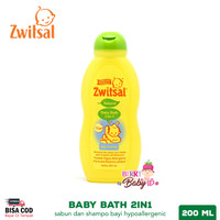 Zwitsal Natural Baby Bath 2in1 Hair & Body Sabun Shampo Bayi 200 ml