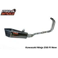Knalpot Prospeed Shark Black Kawasaki New Ninja 250 FI Fullsystem