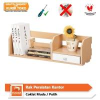 FUNIKA 11009 SBE/WH - Rak Peralatan Kantor dengan Rak - Coklat Muda