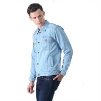 INFGHX Jaket Jeans Pria Jaket Trucker Denim Jacket Levis Cowo Premium