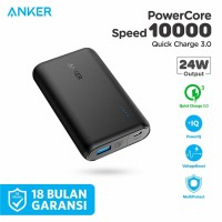 PowerBank Anker PowerCore Speed 10000 Quick Charge 3.0 Black - A1266