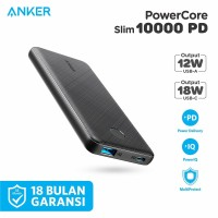 Powerbank Anker Powercore Slim 10000 PD Black - A1231
