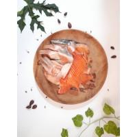 Tetelan daging ikan salmon beku import kemasan 1 kg