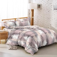 TOMOMI - BED COVER SET TENCEL TOUCH LEAVES