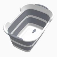 Bak Mandi Bayi Ember Lipat 60 x 40CM with Drain Hole - Gray