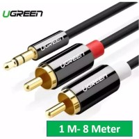 UGREEN Kabel Jack Aux Audio Splitter 3.5mm Male to RCA HI FI Stereo 1M - 0.5 Meter