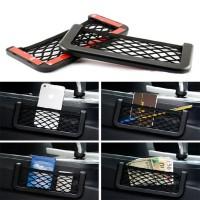 Holder Penyimpanan Handphone Organizer Model Jaring untuk Jok Mobil