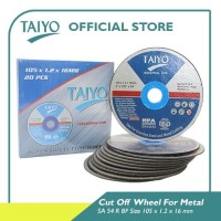 Taiyo SA 54 R BF Cut Of Wheel For Metal & Stainless 105mm