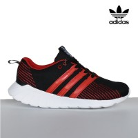 Sepatu Sport Adidas Questar Flow Sneaker Running Casual Pria Hitam