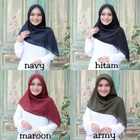 hijab pollycotton/Bella Square/Laudia Square - Hitam